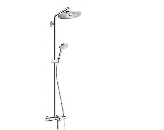 hansgrohe Croma Select 280 Air Wannen-Duschsystem, 4 Strahlarten, chrom