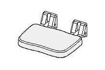 Provex Industrie Provex Animo Duschklappsitz mit Sitzkissen weiß/gelb 0020RD32