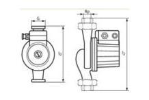 Adapter G 1 1/2 /G2 f. Wilo-Pumpen mit Verschr.Anschl.DN25 auf Rohr DN30 4105914
