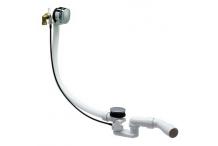 Laufen Ab- & Überlaufgarnitur mit integriertem Wanneneinlauf für Standardwannen, Komplett 2951110040001 Material: