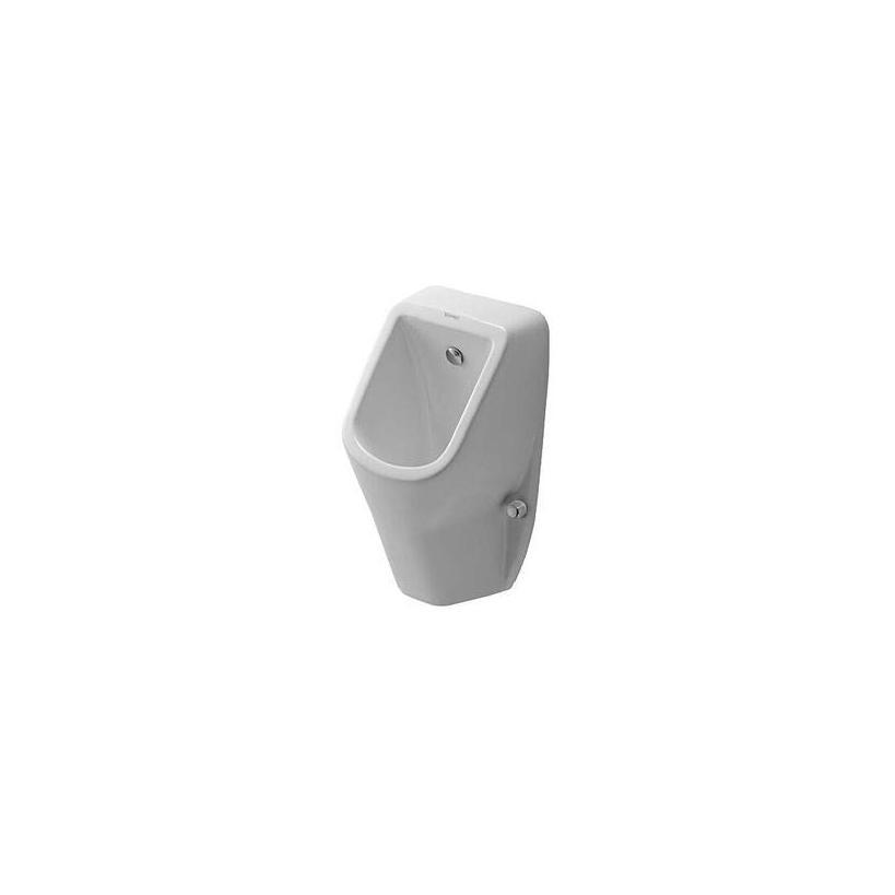 Duravit Urinal D-Code mit Spüldüse Weiß Zulauf von hinten, mit Fliege 0829300007