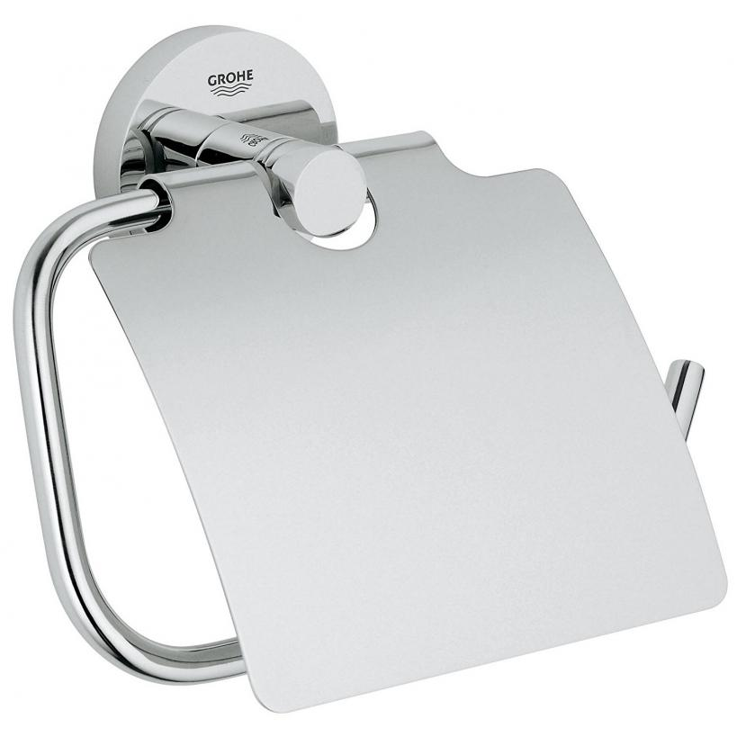 Grohe Essentials WC-Papierhalter mit Deckel, chrom 40367001