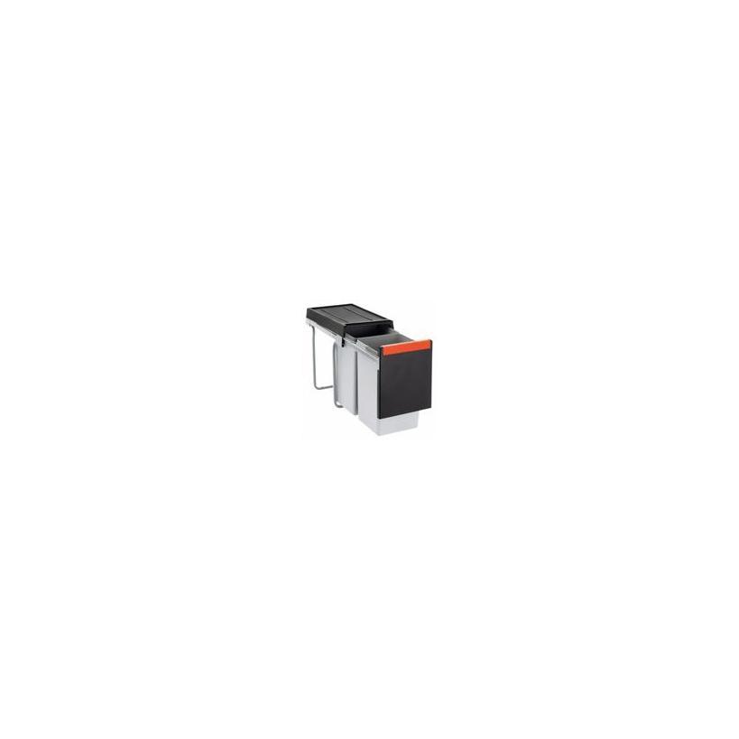 Franke Deutschland Franke Cube 30 Mülltrennung 2-fach mit Handauszug, grau, 2x15l 1340039553