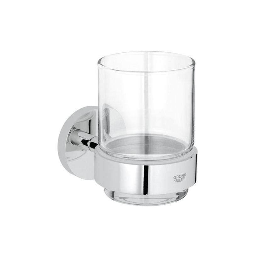 Grohe Essentials Glas mit Halter chrom 40447001