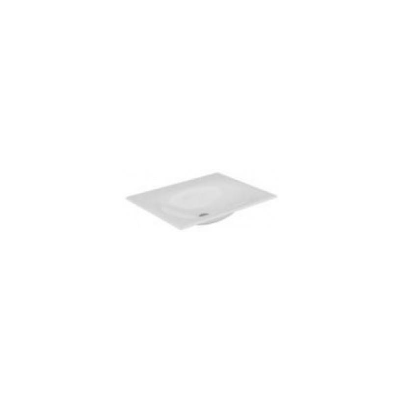 Keuco Edition 11 Keramik-Waschtisch mit 1 Loch Bohrung, weiß 31140310701