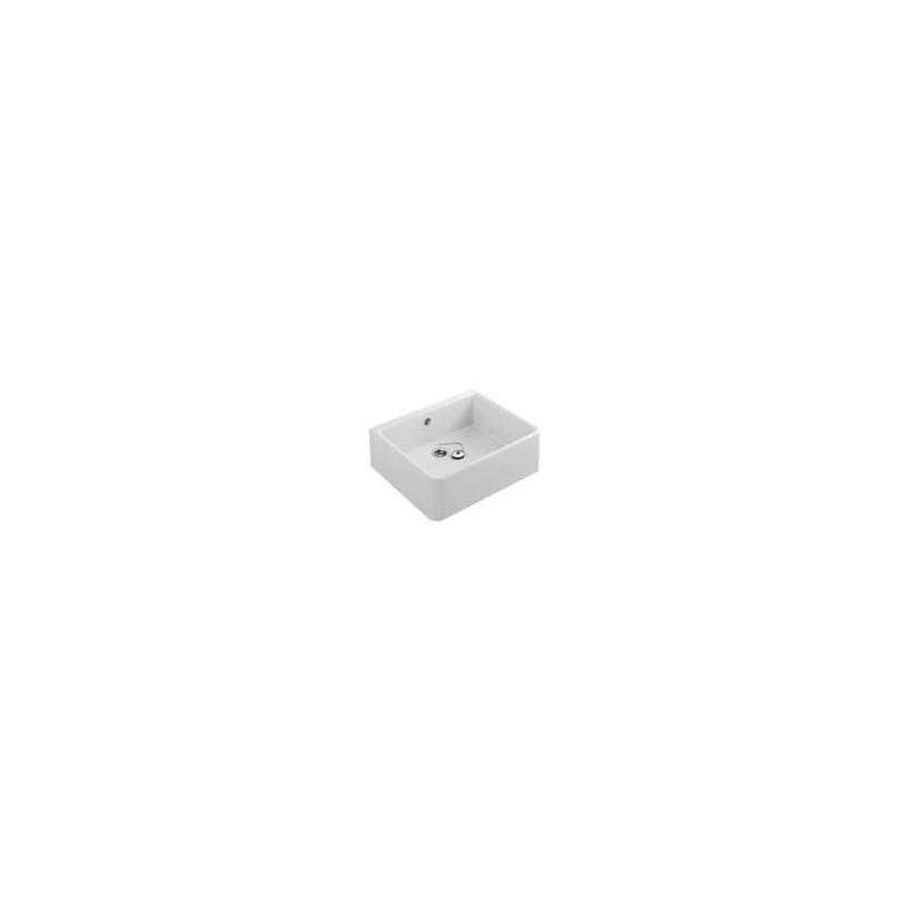 Villeroy & Boch O.Novo Spülbecken 69,5 x 20 x 50cm mit Überlauf, weiß ceramicplus 632700R1